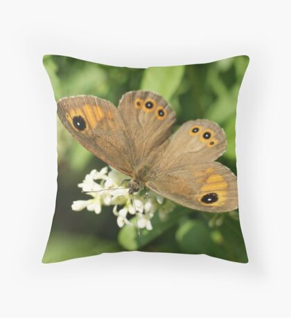Large Wall Brown Throw Pillow