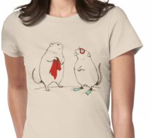 Summer mice Womens Fitted T-Shirt