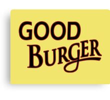 Good Burger shirt – Kenan & Kel, Nickelodeon Canvas Print