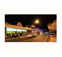 A Busy Night in Bridgetown, Western Australia Art Print