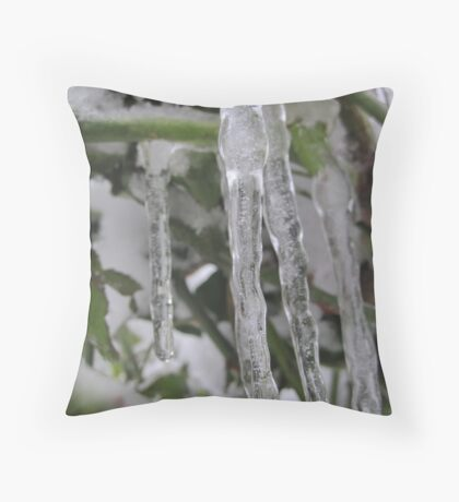 Icycles Throw Pillow