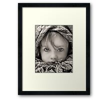 Surrounded by Colour - B&W version Framed Print