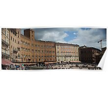 Sienna italy Main square Poster