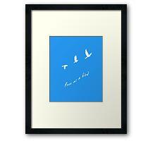 Free As A Bird (White) Framed Print