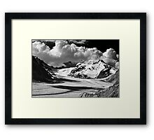 Clouds over the Aletsch Glacier Framed Print