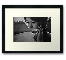 A car and a woman Framed Print