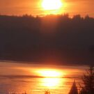 golden columbia river sunrise 4 by Dawna Morton