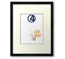 Fantastic 4  Framed Print