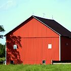 Shadows on the barn by Chuck Chisler