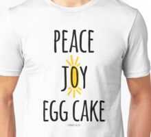 Peace Joy Egg Cake Unisex T-Shirt
