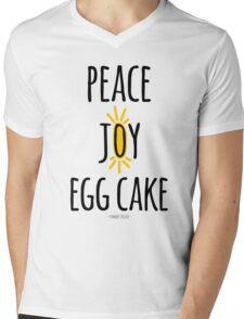 Peace Joy Egg Cake Mens V-Neck T-Shirt