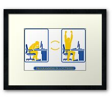 Programming in a nutshell Framed Print