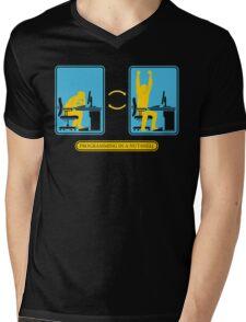 Programming in a nutshell Black Ed Mens V-Neck T-Shirt