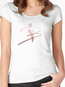 Ballet Shoe Women's Fitted Scoop T-Shirt