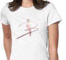 Ballet Shoe Womens Fitted T-Shirt