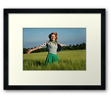 Life is always better with a smile  Framed Print