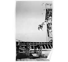 Steel Pier New Jersey Diving Horse Performance By Jonathan Green Poster