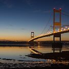 The Severn Bridge - a link to Wales (Aust near Bristol) by Cliff Williams