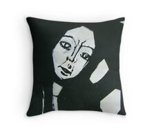 Angular Beauty in Black & White Throw Pillow