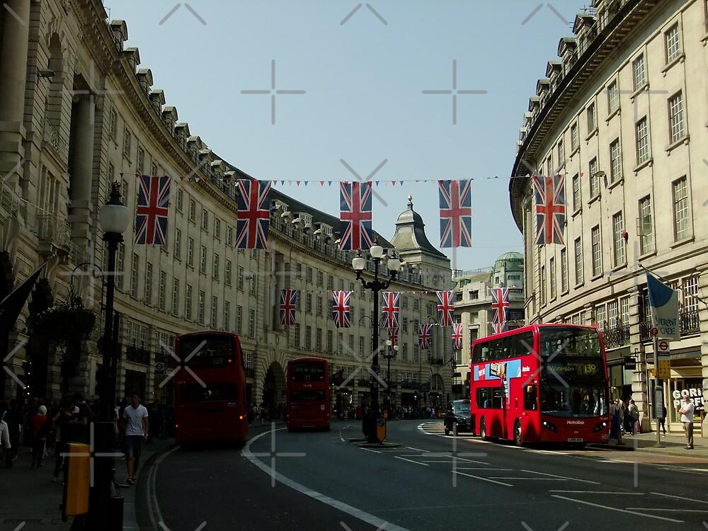 Regent Street, Royal Wedding decorations by Themis
