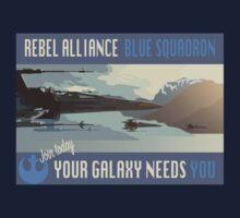Rebel Alliance Blue Squadron Kids Tee