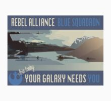 Rebel Alliance Blue Squadron Kids Clothes