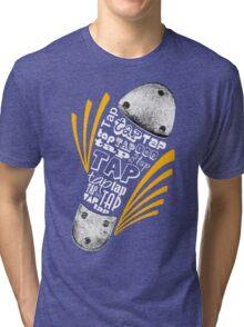 Tap Shoe Grayscale - Dark Tri-blend T-Shirt
