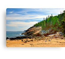 Sand Beach, Acadia National Park, Bar Harbor, Maine Canvas Print