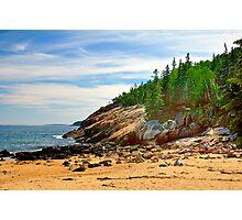 Sand Beach, Acadia National Park, Bar Harbor, Maine Photographic Print