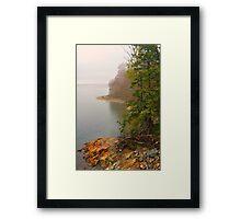 Coastline in Fog, Blue Hill Peninsula, Maine Framed Print