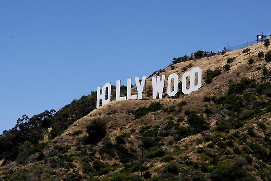 Hollywood Hills Sign by Amy Hallowes
