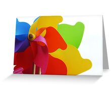 Toy windmill Greeting Card