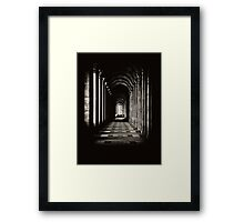 Hallway Gate to Infinity Framed Print