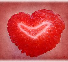 Red berry love by Olga