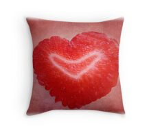 Red berry love Throw Pillow