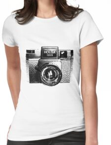 Holga 120S Black (Big) Womens Fitted T-Shirt