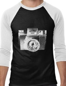 Holga 120S White (Big) Men's Baseball ¾ T-Shirt