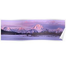 Oxbow Bend Winter Sunrise Panorama Poster
