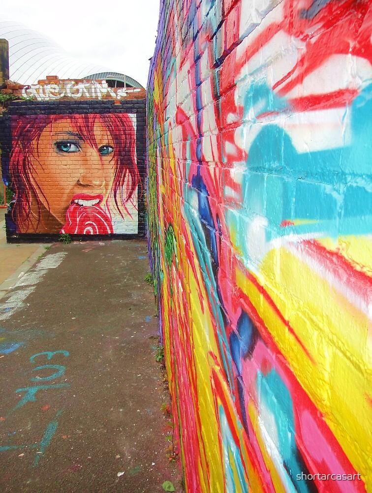 Graffitti in Gateshead by shortarcasart