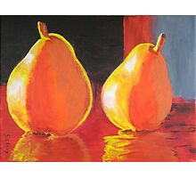 Flaming Pears Photographic Print