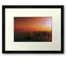 sunrise on lake Framed Print