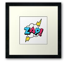 Zap! - pixel art Framed Print
