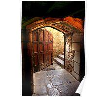 Light Through the Door at Montsalvat Poster