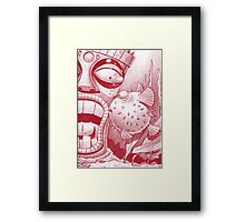 Tiki and Blowfish Framed Print