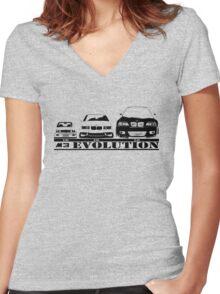 BMW M3 Evolution  Women's Fitted V-Neck T-Shirt