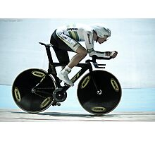 Rohan Dennis 2011 Apeldoorn World Track Championships Photographic Print