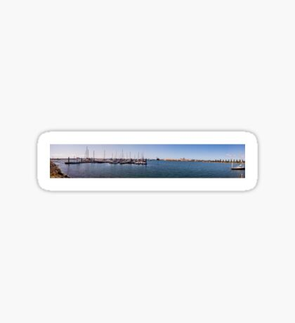 Portland Harbour Panorama  Sticker