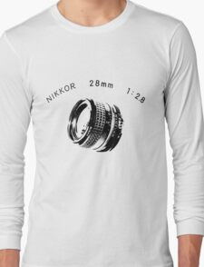 Nikkor 28mm Black Long Sleeve T-Shirt
