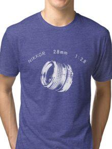 Nikkor 28mm White Tri-blend T-Shirt