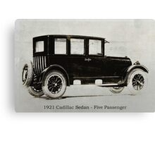 1921 Cadillac Sedan Canvas Print